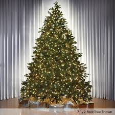 9 Ft Slim Christmas Tree Prelit by Christmas Trees Hammacher Schlemmer