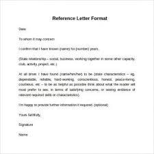 Letter Reference Format