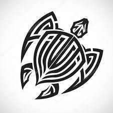 Tortue Isolé Zentangle Tortue Stylisée Tribale Doodle Illustration