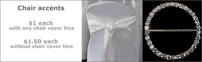 Diamante Chair Sash Buckles by Chair Cover Hire Auckland