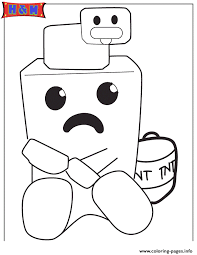 Minecraft Duck On Top Of Cute Creeper Coloring Pages Printable