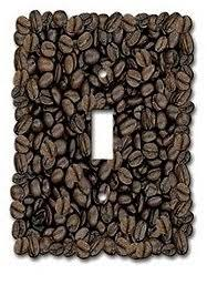 Coffee Light Switch Cover Java Wall Art Latte Beans