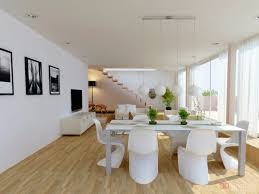 stylish white decoration in the dining room interior