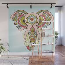 100 Decorated Wall Indian Elephant Decorated Of Hindi Or Ornament Mural By Freire