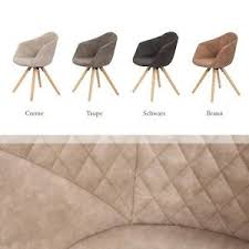 details zu polster stuhl leder optik armlehnenstuhl esszimmer braun beige taupe 2er set