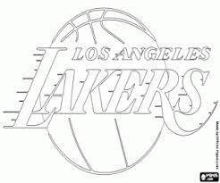 Lakers Emblem Chicago Bulls Badge Coloring Page