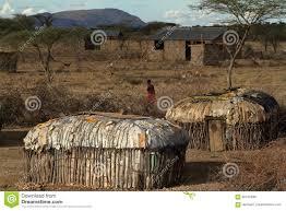 100 Houses F Village And Of The Samburu Tribe In Kenya Editorial Stock