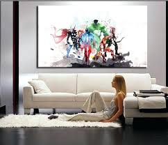 Phenomenal Wall Painting For Living Room The Avengers Modern Art