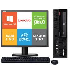 ordinateur de bureau lenovo pc bureau lenovo thinkcentre m58 dual 8go ram 1 to disque dur