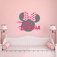 Minnie Mouse Bedroom Decor South Africa by Name Wall Decal Minnie Mouse Wall Decals Wall Decals