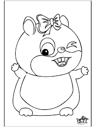 Hamster Coloring Pages 278