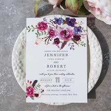 Rustic Vintage Lace Wedding Invitations Shades Of Purple Boho Invitation