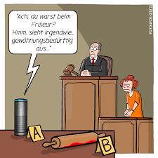 sprachassistenten als beweismittel aktuelle karikaturen