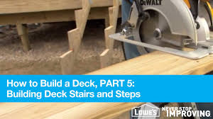Deck Joist Hangers Nz by How To Build A Deck Part 5 Building Deck Stairs And Steps Youtube