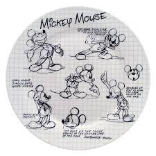 Mickey Mouse Bathroom Set Amazon by Amazon Com Disney Sketchbook Mickey Salad Plate Set Of 4 Disney