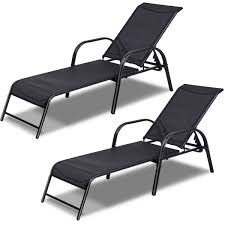 Costway Set Of 2 Patio Lounge Chairs Sling Chaise Lounges Recliner  Adjustable Back - Walmart.com Best Choice Products Outdoor Chaise Lounge Chair W Cushion Pool Patio Fniture Beige Improvement Frame Alinum Exp Winsome Wicker Chairs Commercial Buy Lounges Online At Overstock Our Cloud Mountain Adjustable Recliner Folding Sun Loungers New 2 Shop Garden Tasures Pelham Bay Brown Steel Stackable Costway Set Of Sling Back Walmartcom Double Es Cavallet Gandia Blasco Walmart Fresh 20 Awesome White Likable Plastic Enchanting