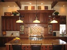 Kitchen Decorating Ideas For Above Cabinets Modern Furniture Cabinet Design Dark Granite Countertop Built In Stove
