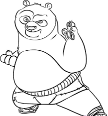 Funny And Cute Kung Fu Panda Coloring Pages