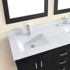 60 inch double vanity with top decoration