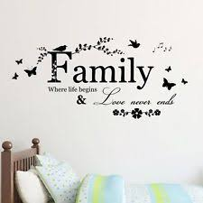 Removable Family Letter Butterfly Vinyl Art Wall Sticker Mural Home Decal Decor