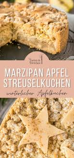 apfel streuselkuchen mit marzipan
