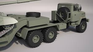 100 Tractor Truck Military KrAZ6446 With Trailer By AhAlbahar 3DOcean
