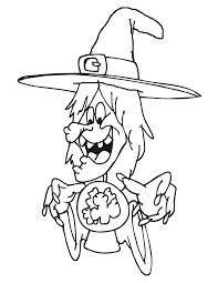 Witch Coloring Page 15