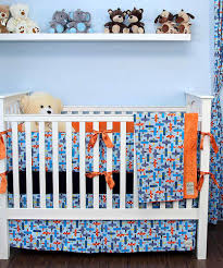 My Blankee Blue Airplane Crib Bedding Set