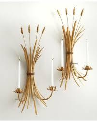 amazing shopping savings antique gold iron wheat sheaf sconce