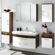 details zu badezimmer möbel set hochglanz weiß 100cm waschtisch spiegelschrank badmöbel