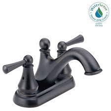 Delta Lahara Faucet Canada by Delta Lahara 4 In Centerset 2 Handle Bathroom Faucet With Metal