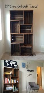 15 Creative Living Room Furniture Ideas 2DIY Rustic Bookshelf