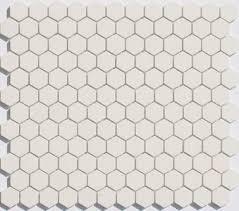 lyric unglazed porcelain hexagon mosaic tile in ecru