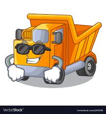 Super Cool Cartoon Truck Transportation On The Vector Image