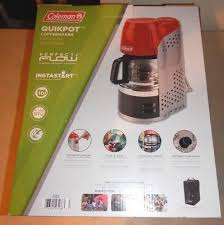 Coleman QuikPot Portable Outdoor Camping Propane 15 Minute Coffee Maker Red NEW