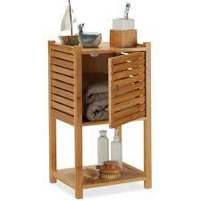 badregal bambus 2 ablagen 1 fach mit tür bad küche