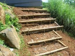 confection d escalier en rondin de bois de