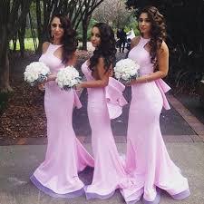 Pink Bridesmaid GownBackless Prom DressesSatin GownSimple DressCheap DressesFall Wedding GownsOpen Back Dresses