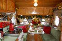Vintage Trailer Interiors Wood Work Appliances And Decorations