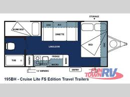 Travel Trailer Floor Plans With Bunk Beds by New 2013 Forest River Rv Salem Cruise Lite Fs 195bh Travel Trailer