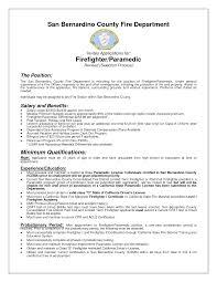 resume for firefighter paramedic cover letter entry level firefighter resume entry level