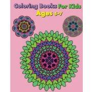 Coloring Books For Kids Ages 5 7 Happy Easy Flowers Mandalas