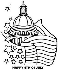 4th Of July Coloring Pages At Hellokids