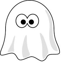 This Coloring Page For Kids Features A Cartoon Ghost With Large Eyes That Is Covered By