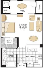Bathroom Floor Plans With Washer And Dryer by Studio Apartment Plan And Layout Design With Storage Floor