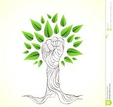 stock image go green hand concept tree draw style save earth idea illustration layered easy manipulation