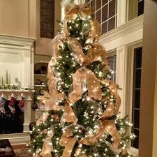 Burlap Ribbon Rustic Christmas Tree