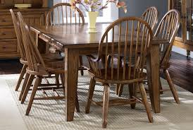 5 Piece Formal Dining Room Sets by 17 T4408 Dining Table In Rustic Oak W Options