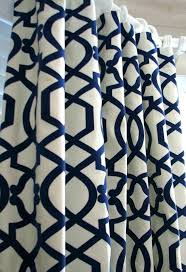 Navy Geometric Curtains Stunning And Grey White