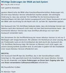 Brak Mitteilungen Brak Archive Bea Abc